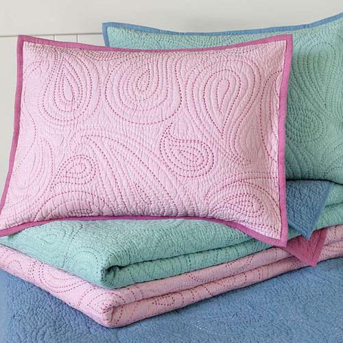 Paisley Pick-Stitch Quilt & Sham