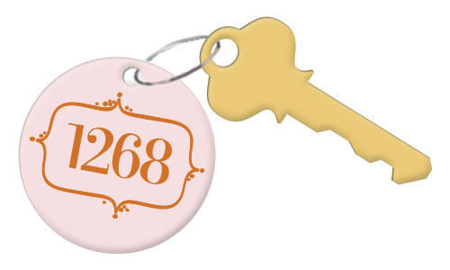 P.O. Box 1268 Keychain