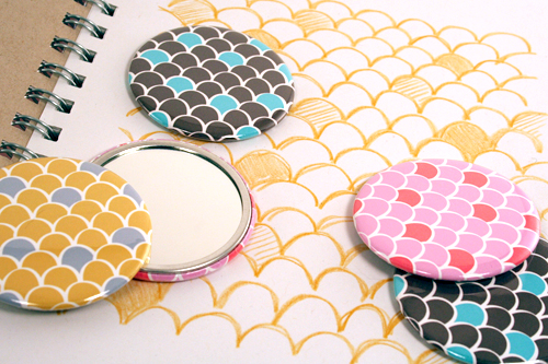 Pocket Mirrors from Pink Loves Brown