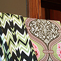 Amy Butler Fabric in the Dining Room