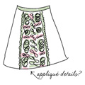 Applique Detail Skirt