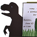 Handmade Dinosaur Invitation