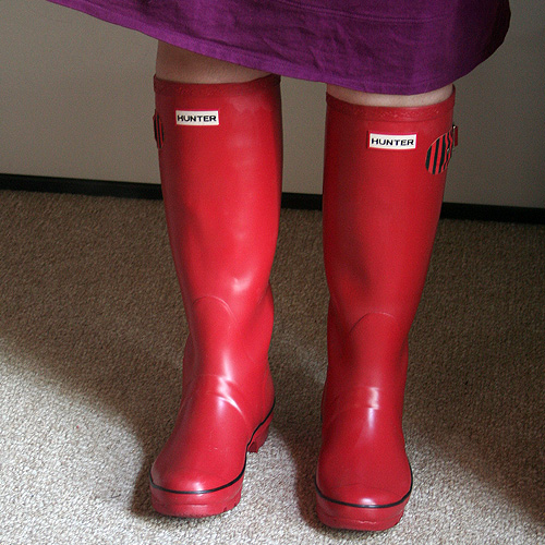 Red Wellies!