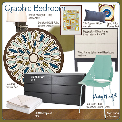 Graphic Bedroom (MIY: Real Good Chair)