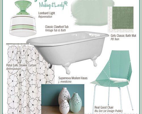 Vintagey Bathroom (MIY: Real Good Chair)