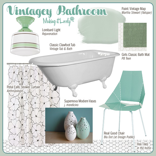 Vintagey Bathroom (MIY: Real Good Chair)