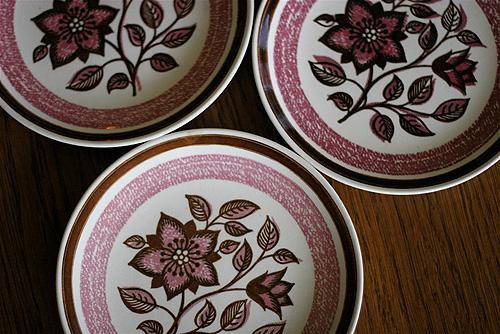 Vintage Floral Plates