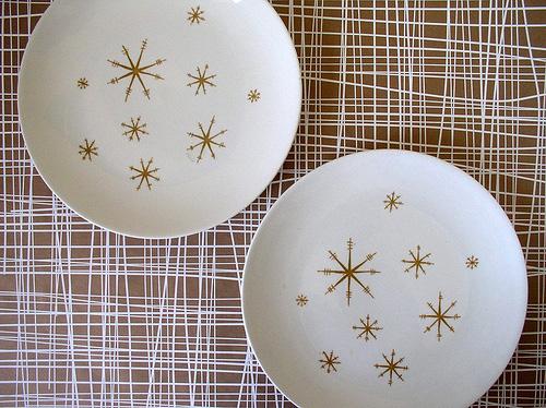 Star Glow Vintage Plates