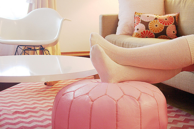 Pink Moroccan Pouf Making It Lovely