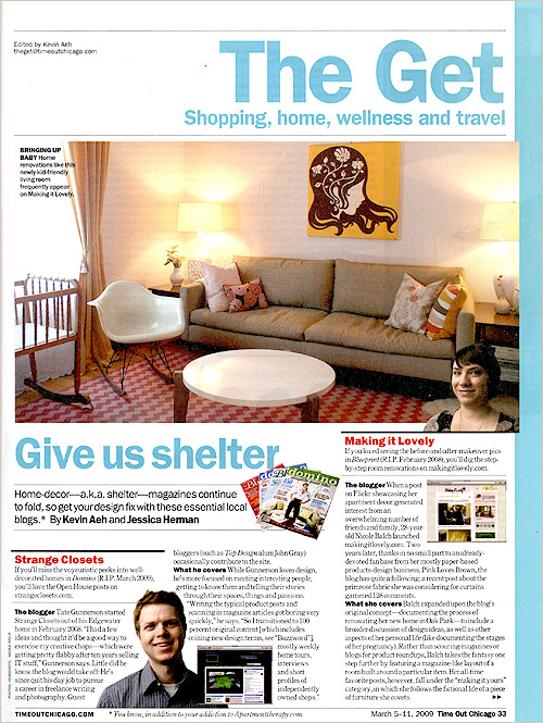 "Time Out Chicago – ""Give Us Shelter"""