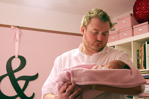 Brandon, holding Eleanor