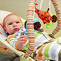 Eleanor in her Bouncy Chair