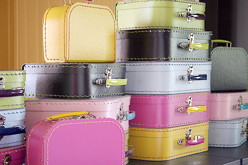 Paper Suitcases at Pink Loves Brown