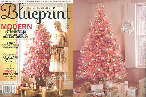 Pink Christmas Trees.Pink Christmas Tree Making It Lovely