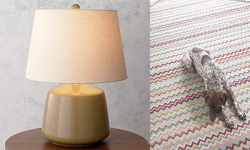 Granny Chic Lamp and Rug