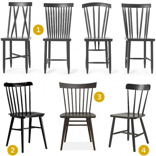 Solid Hardwood Windsor Dining Chairs - ShopWiki