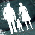 Silhouette Balch Family Car Decal