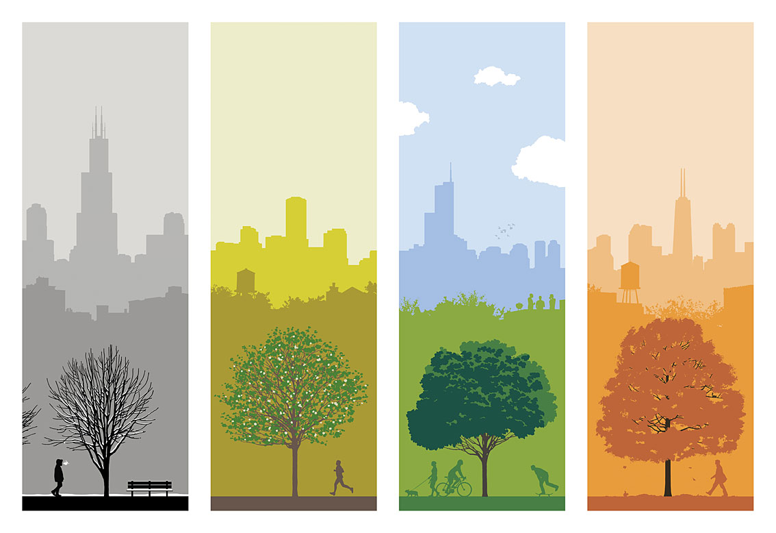Ryan Kapp, 4 Seasons in Chicago Prints