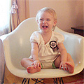 Seventeen Months Old (Eleanor's Monthly Photo)