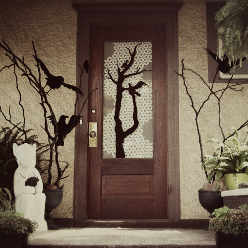 The Front Porch, Decorated for Halloween