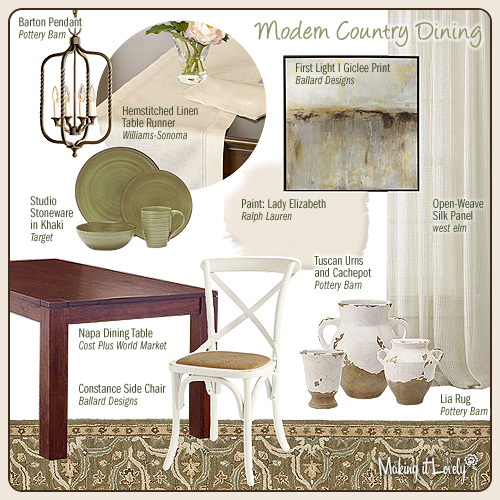 MIY 6a: Modern Country Dining Room