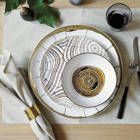 Wood Slices Organic Dinnerware