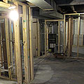 Basement Walls Framed
