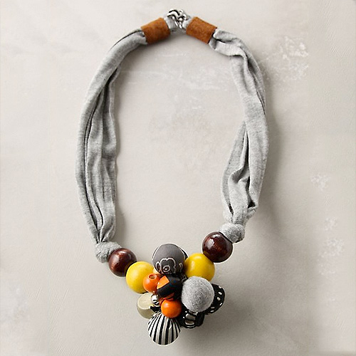 Captured Scarf Necklace