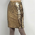 Matte Gold Sequin Skirt