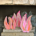 Pink Fireplace Flames