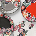 Zinnia Thicket Salad Plates