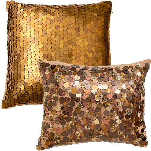Metallic Sequin Pillows