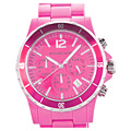 Pink Chronograph Watch