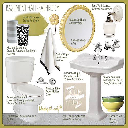 Bathroom Design Board basement half-bathroom design board – making it lovely