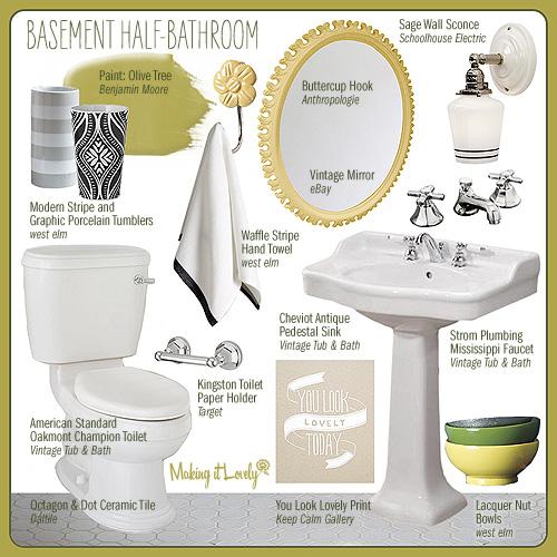 Half Bathroom Layout: Basement Half-Bathroom Design Board