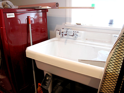 The Laundry Room Sink | Making it Lovely