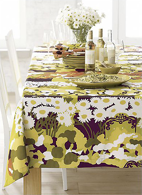 Marimekko La Botte Floral Tablecloth
