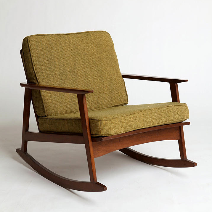 mid century rocking chair Mid Century Rocker Chair   Making it Lovely mid century rocking chair