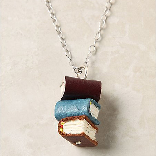 Library Stack Necklace