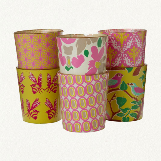 Yellow Patterned Votives