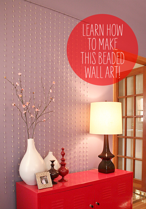 Beaded Garland Wall Art DIY - Making it Lovely