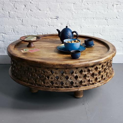 carved wood coffee table - Carved Wooden Coffee Tables
