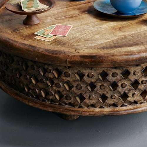 Carved wood coffee table making it lovely Carved wood coffee table