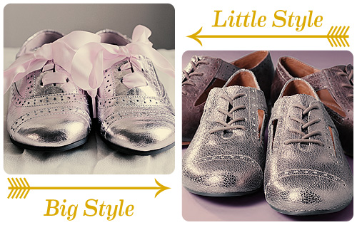 Little Style / Big Style: Metallic Oxford Shoes - Making it Lovely