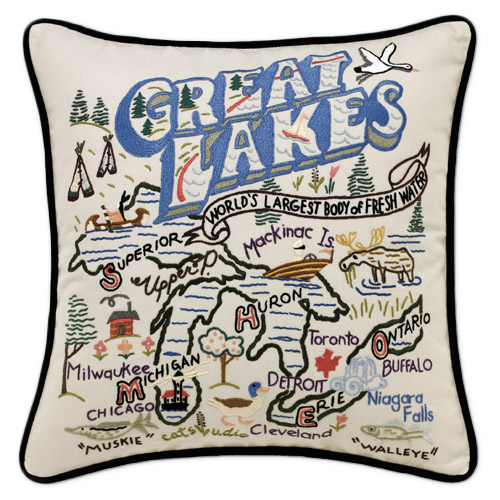 Hand-Embroidered Destination Pillows