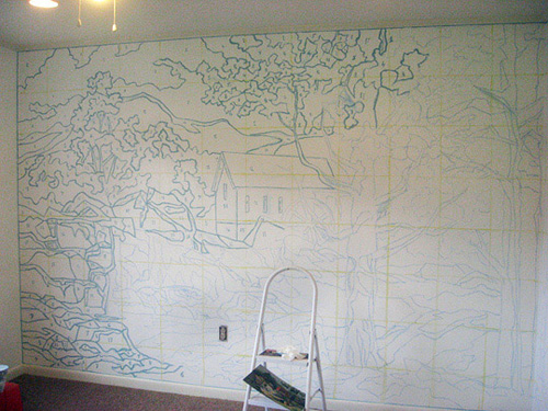 paint by numbers giant wall mural inspiration making it