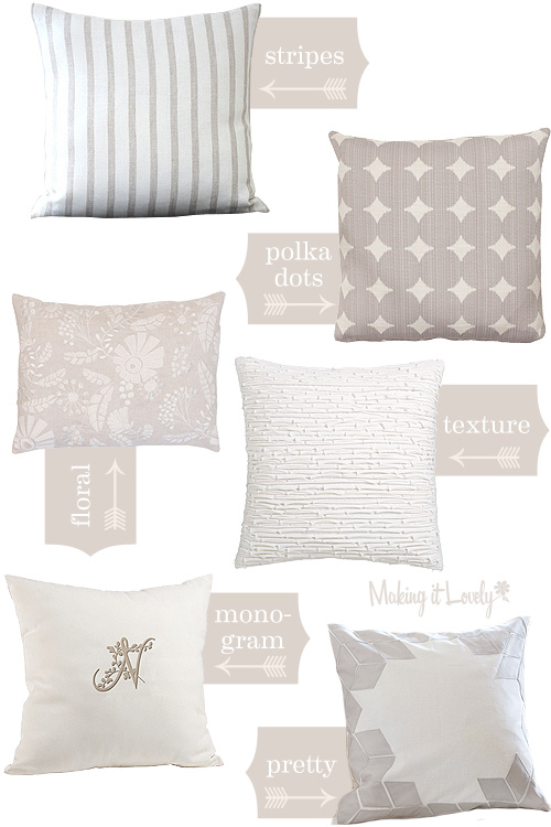 Patterned Pillows for the Color-Shy