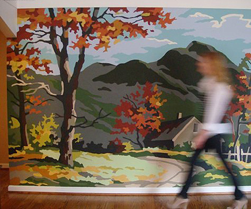 Paint by Numbers Giant Wall Mural Inspiration Making it Lovely