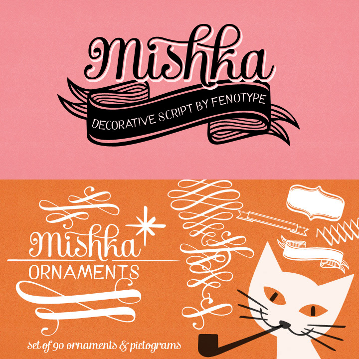 Mishka and Mishka Ornaments Fonts