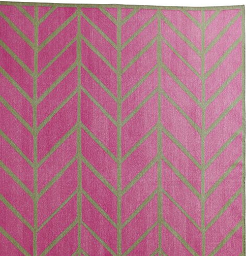 Orchid/Army Feather Rug